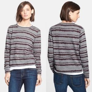 • A.L.C. • Conlo Stripe Sweatshirt Grey & Wine